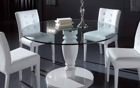 pedestal modern antique gloss room circle glass dining chairs extending marble white table and seater for