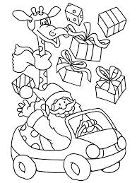 Kleurplaten Paradijs Kleurplaat De Kerstman In Een Auto