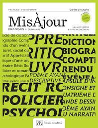 Misàjour Français Grammaire 2e Secondaire By éditions Grand Duc
