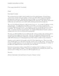 Sample Letter For Funding Support Example Of Application