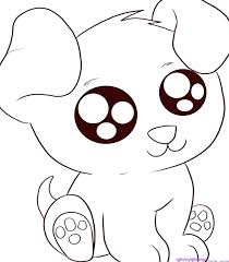 Cartoon Animal Coloring Pages Funny Puppy Cute Baby Animals Check
