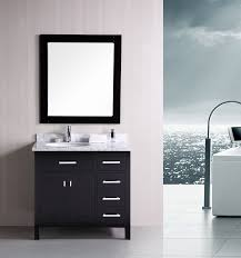 black and white bathroom furniture. Pretty Black Painted Small Vanity With White Porcelain Single Sink Top As Bathroom Accessories Ideas And Furniture T