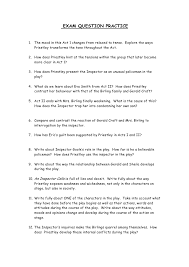 an inspector calls revsion pack exam question practice1