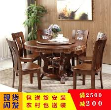 solid wood round dining tables solid wood round dining table and chair combination with turntable people