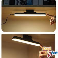 Đèn Led dài dán tường tích điện 1800mAh sạc USB gắn nam châm để bàn học bàn  làm việc 3 chế độ sáng cảm ứng điểm chạm