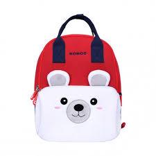 Школьный рюкзак сумка Nohoo <b>Мишка</b> белый