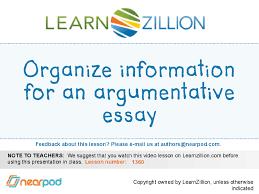 An argumentive essay