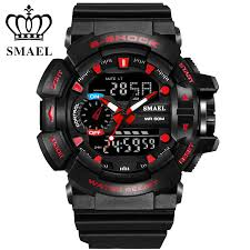 online buy whole red g shock watches for mens from red g luxury brand smael waterproof sport watch men fashion digital led quartz watches men s military clock men