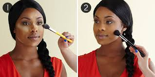contour makeup kit for dark skin. african american cream contour: steps 1-2 contour makeup kit for dark skin