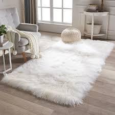 details about white mongolian lamb fur blanket rug real sheep fur blanket cushion custom grey