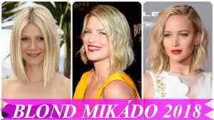 Nejoblíbenější Blond Mikádo 2018 účesy A Střihy Imclipsnet