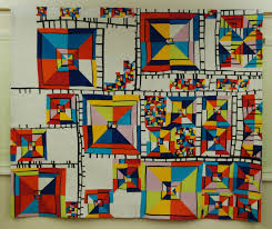 Quilt National '17 Prize Winners | Dairy Barn | Quilts We Love ... & Margaret Black Line Study 17 ©MB 90 by 75 Kona cottons, thread, wool batting,  cotton batting. Free-form cut and pieced, straight-line machine quilted.  BEST ... Adamdwight.com