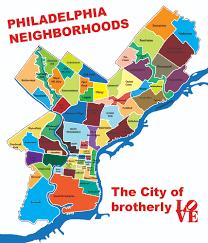 map of philadelphia neighborhoods one take on philadelphia