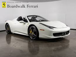 Research the 2014 ferrari 458 spider at cars.com and find specs, pricing, mpg, safety data, photos, videos, reviews and local inventory. 2014 Ferrari 458 Spider For Sale Dupont Registry