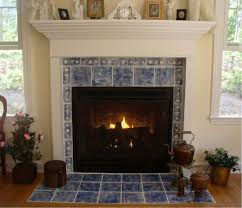 white fireplace mantel with blue tile around and shelf also wood burning mantels interior hearth awesome look wooden designs renew your old gas wall free