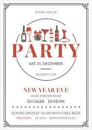 New Year's Eve Party Flyer Template Template | Fotojet