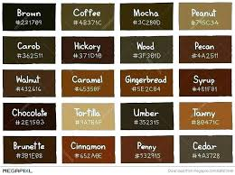 Shades Of Orange Color Chart Light Brown Paint Color Bathroom Chart Colors Sherwin
