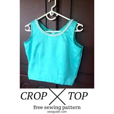 Crop Top Pattern Cool Make A Crop Top Free Sewing Pattern Tutorial Sew Guide