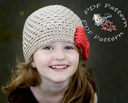 Toddler Crochet Hat Pattern With Flower