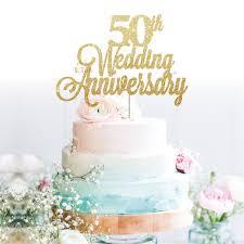 50th Wedding Anniversary Cake Topper Oh So Glitter