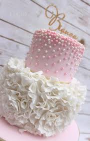 best 20 cake for baby girl ideas on pinterest pink baby showers Baby Girl Cakes pink and white pearl rose ruffle cake by lynette brandl so cute for a girl baby shower! baby girl cakes for shower