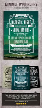 Typography Flyer Minimal Typography FlyerPoster by maman GraphicRiver 1