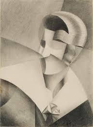 cubist head by belgian artist marthe donas  cubist head 1917 by belgian artist marthe donas 1885 1967