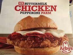Arbys Buttermilk Chicken Pepperoni Parm Sandwich In 2019
