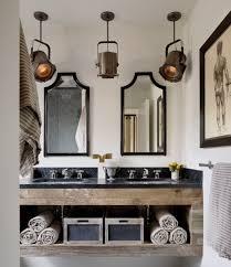 rustic bathroom lighting. Endearing Rustic Bathroom Lighting Ideas Home Interiors C