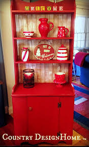 painted red furniture. A Merry Red Country Cupboard, Chalk Paint, Painted Furniture, Rustic Furniture F