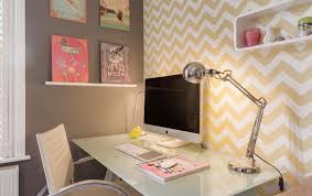 wallpapered office home design. Brilliant Home Home Office Throughout Wallpapered Office Design C