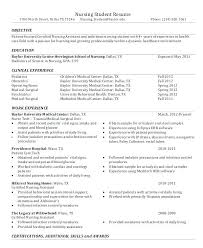 Sample Nursing Student Resume Extraordinary Nursing Resume Objective Statement Examples Student Best Of Yomm