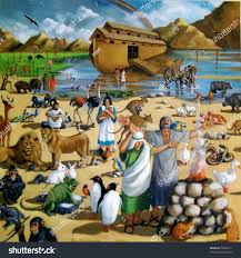 painting of noah and the ark after the flood