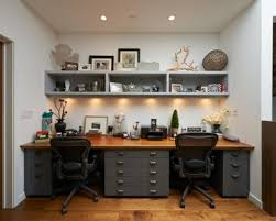 Lovely Idea Dual Desk Home Office Dual Monitor Office Desk Ideas Pertaining  To Stylish Household Dual Desk Home Office Remodel