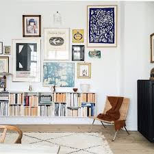 bohemian style living room. Exellent Living Gallery Wall And Bookshelf In Modern Bohemian Style Living Room With Bohemian Style Living Room