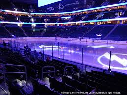 Amalie Arena View From Section 129 Dress Code Enforced Rows