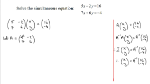 exquisite simultaneous equations matrix method examsolutions maths substitution large size