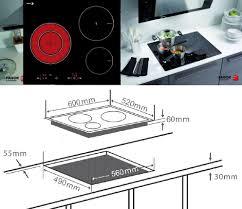 Kích thước các loại Bếp điện từ âm