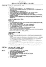 Operations Manager Resume Examples Ad Operations Manager Resume Samples Velvet Jobs 15