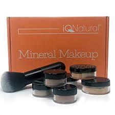 iq natural large mineral makeup kit 12pc um get started set includeds 6pc brush at