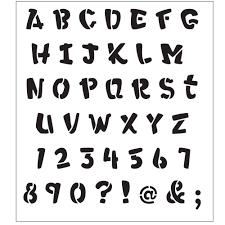 alphabet heavy marker laser painting stencils