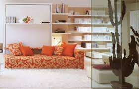 atoll wall bed with integrated 4 seater sofa cleis atoll double size wall  bed innovative engineering