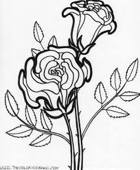Flower Page Printable Coloring Sheets Flower