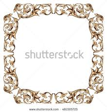 vintage frame border. Vintage Baroque Frame Ornament. Picture Frame, Border, Photo Border