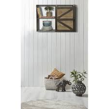 gracie oaksleipzig farmhouse sliding barn door storage cabinet wall shelf