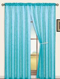 Sterling Rod Pocket Curtain Panel Aqua Blue