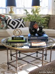 how to decorate a round coffee table great decorating a round coffee table with best coffee