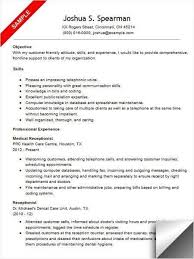 Medical Receptionist Resume Template Stunning Resume Template For Medical Receptionist Resume Samples For Medical