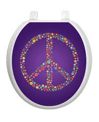 Bathroom Symbol Magnificent Purple Peace TT48R Round Symbol Sign Theme Cover Bathroom