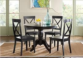 black dining room set. brynwood black 5 pc round dining set room